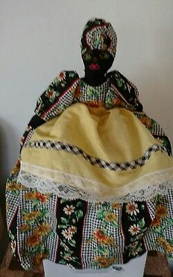 Vintage Black Americana Mammy Rag Doll Toaster Mixer Cover Cozy, Embroidered