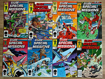 G.I. Joe Special Missions 1 2 3 4 5 6 7 8 set Marvel 1986 VFN/NM