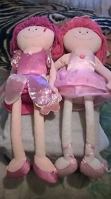 2 Large Ballerina Dolls By M&s Now Reduced
