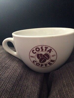 Costa Coffee White China Large Sized Cup