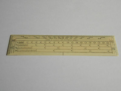 Rare Antique Slim Protractor Scale Rule/ruler,aston & Mander Drawing Instrument