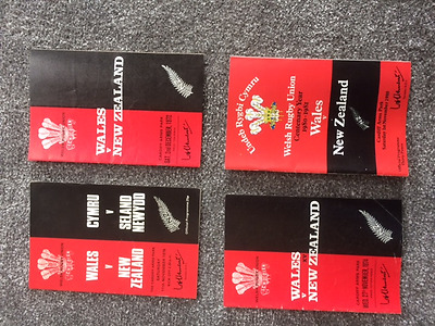 Wales v New Zealand rugby union programmes