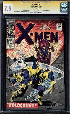 X-Men #26 Cgc 7.5 (1966) White  Stan Lee Ss Signed El Tigre App. #1116975012