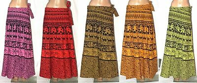 Indian Ethnic Gypsy Boho Handcrafted Block Painted Belly Dance Skirt Lot Of 5  X