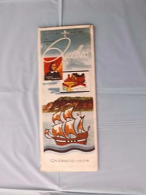 Road Map Province Of Quebec  Canada 1958