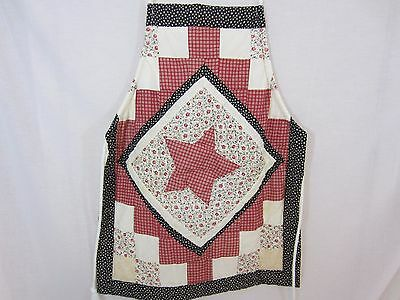 Handmade from Pillow Sham Quilted Apron - Star Pattern