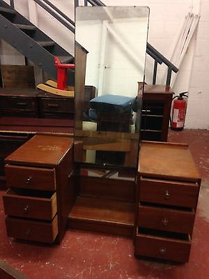 1930's RETRO VINTAGE ANTIQUE DRESSING TABLE WITH MIRROR