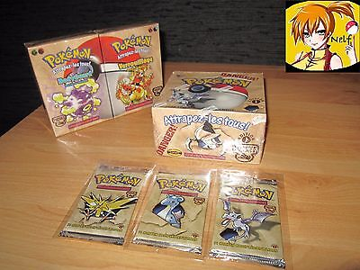 Pokemon FOSSILE Edition 1 Display / deck / booster COMPLET FR NEUF / NEO - EX