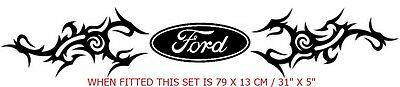 One Pair Of Large Tribal Flash Ford Vinyl Decal Sticker In 3 Sections