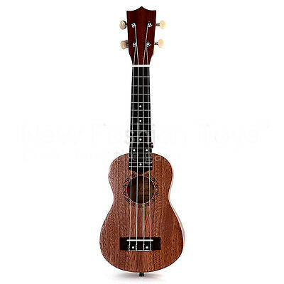 * Brown 21 Inch 4 String Ukulele Guitar Acoustic Performance Musical Instrument