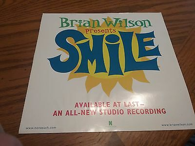 Brian Wilson Presents Smile   Promotional Window Cling    2004