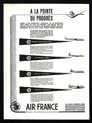 PUBLICITE  AVIATION Cie AERIENNE AIR FRANCE   AIRLINES PORTUGAL  AD  1953  * 5F