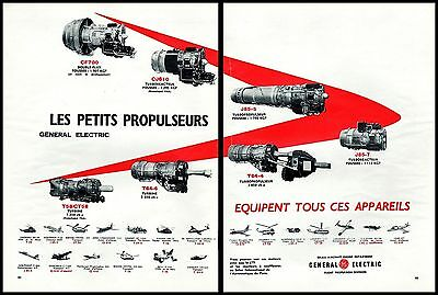 Publicite  Aviation General Electric Aircraft Engine    Ad  1963  * 10F