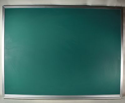 Bangor Cork 4'x3' aluminum framed green chalk board with tray