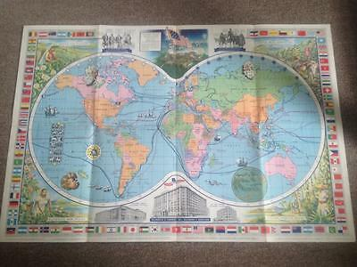 McCormick's Map of the World 1950's by McCormick w/ Spices Flags Great Graphics