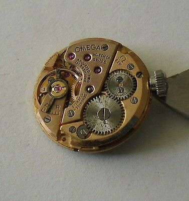 Omega 620 Movement Working Dial Signed Crown 1965 Omega Maquina Funciona Corona