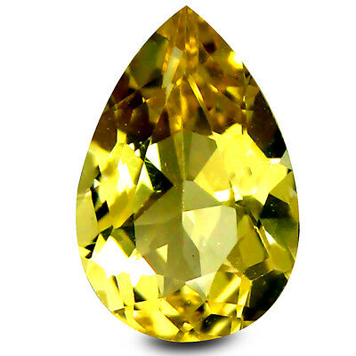 1.08 ct AAA Remarkable Pear Shape (9 x 6 mm) Yellow Heliodor Beryl Gemstone