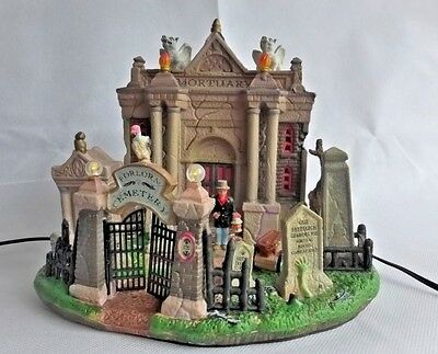 Spooky Town Forlorn Cemetery Lighted Musical Building, Original Box 2009 Lemax