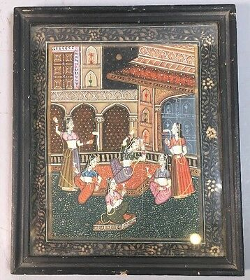 Antique Persian Islam Miniature Painting Framed