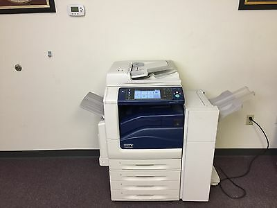 Xerox Workcentre 7535 Color Copier Machine Network Printer Scanner Fax Finisher