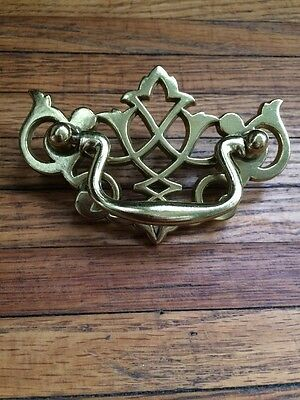 Vintage Look Brass American Chippendale BAT WING Drawer Pulls handles Provincial