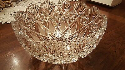 Signed Hawkes Antique High Quality Crystal Bowl!