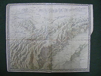OLD MAP OF THE HIMALAYAS 46.5 X 38cm