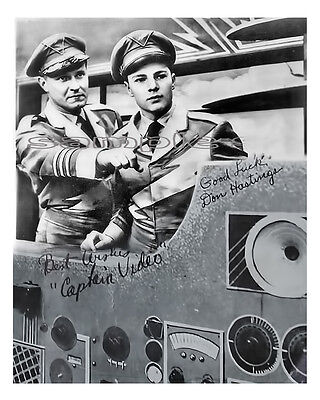 11 Captain Video Photo Don Hastings Al Hodge Print Singed