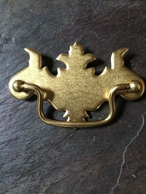 CHIPPENDALE VICTORIAN DRAWER PULLS, SOLID BRASS, Provincial Mid Century Vintage