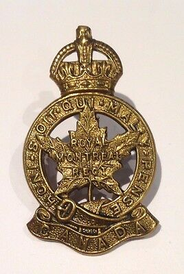 Canadian Army - Royal MONTREAL Regiment (Cap Badge) Lugs