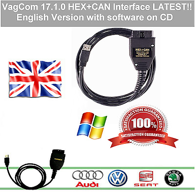 2017 ✔Vag-Com v17.1.0 ✔ HEX+CAN diagnostic cable with soft ✔English with Updates