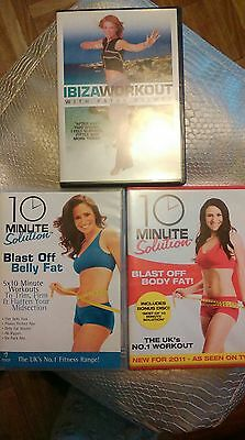 3 workout dvds.