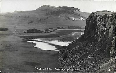 Old Postcard Of Crag Lough, Northumberland