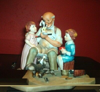 """Norman Rockwell """"The Toymaker"""" Figurine 5"""" Tall  1980 Annual Figurine"""
