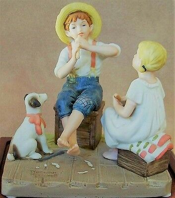 """Norman Rockwell """"The Music Master"""" Figurine 1980"""