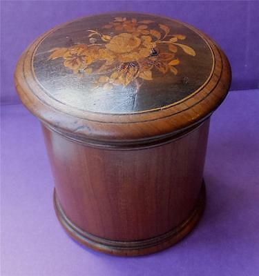 RARE ANTIQUE MARQUETRY TEA CADDY/CANNISTER - DUTCH or ENGLISH