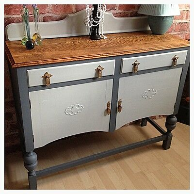Vintage Shabby Chic Sideboard Cabinet Hand Painted