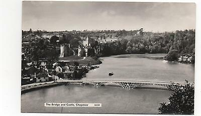 Chepstow The Bridge And Castle 1945 Real Photo Monmouthshire