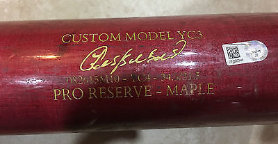 yoenis cespedes Mets Game Used Bat MLB AUTHENTICATED
