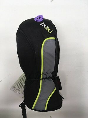 HEAD Jr Youth Ski Mittens Insulated Gloves, Black, Size XS, NWT