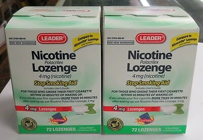A Lot Of 2: Leader Nicotine Lozenges 4Mg Exp-Date 09/2018 Total 144Pcs