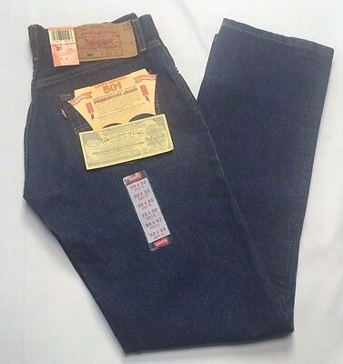 VTG Levis 501 Denim Jeans New Old Stock 30 x 32 Made In USA Button Fly