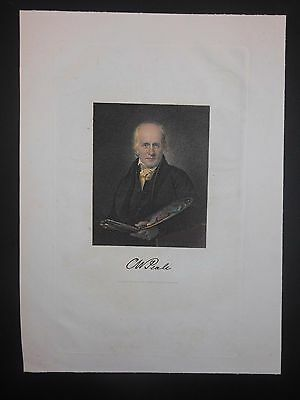 Charles W Peale American Artist Revolutionary War Portraits 1850 Hand Color Eng