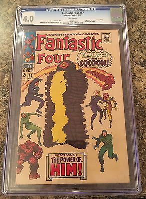 FANTASTIC FOUR #67 white CGC 4.0 CANADA SELLER 1st appearance Warlock