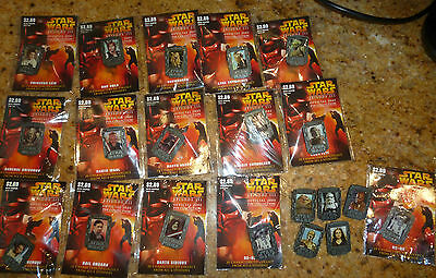 Star Wars Episode III official 2005 pin collection Character pins RARE 20 Lot