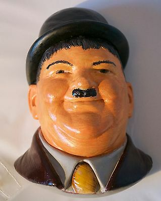 Oliver Hardy Legends Products Chalkware Signed F Wright 1984