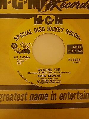 April Stevens - Wanting You MGM demo mint.CLASSIC Northern Soul.