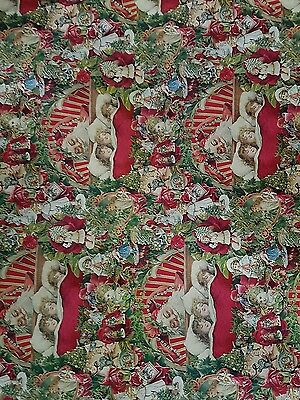vintage christmas wrapping paper 12 Foot x 50cm