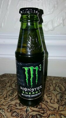 Concentrated MONSTER Energy Sports drink M3 - 5oz. Glass bottle Rare Collectible