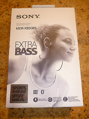 Sony EXTRA BASS MDR-XB50BS Sports In-Ear Bluetooth Headphones - Black